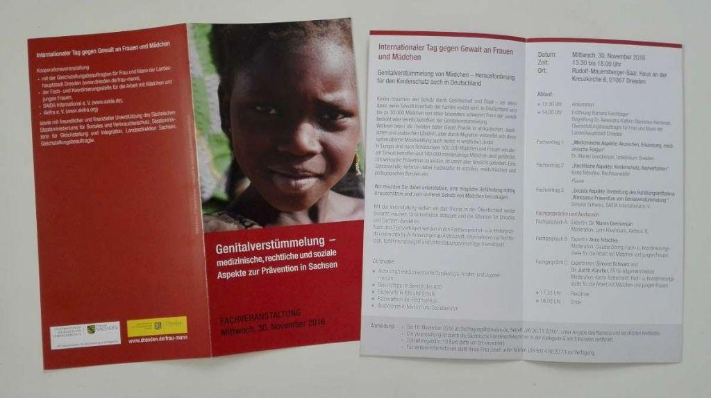 Fachveranstaltung zum Thema Genitalverstümmelung in Dresden