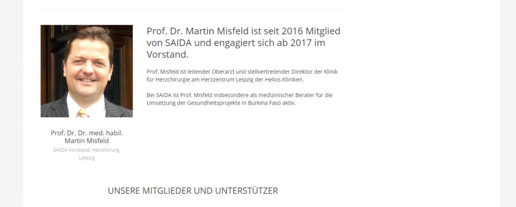 Prof. Dr. Dr. Martin Misfeld in SAIDA-Vorstand berufen