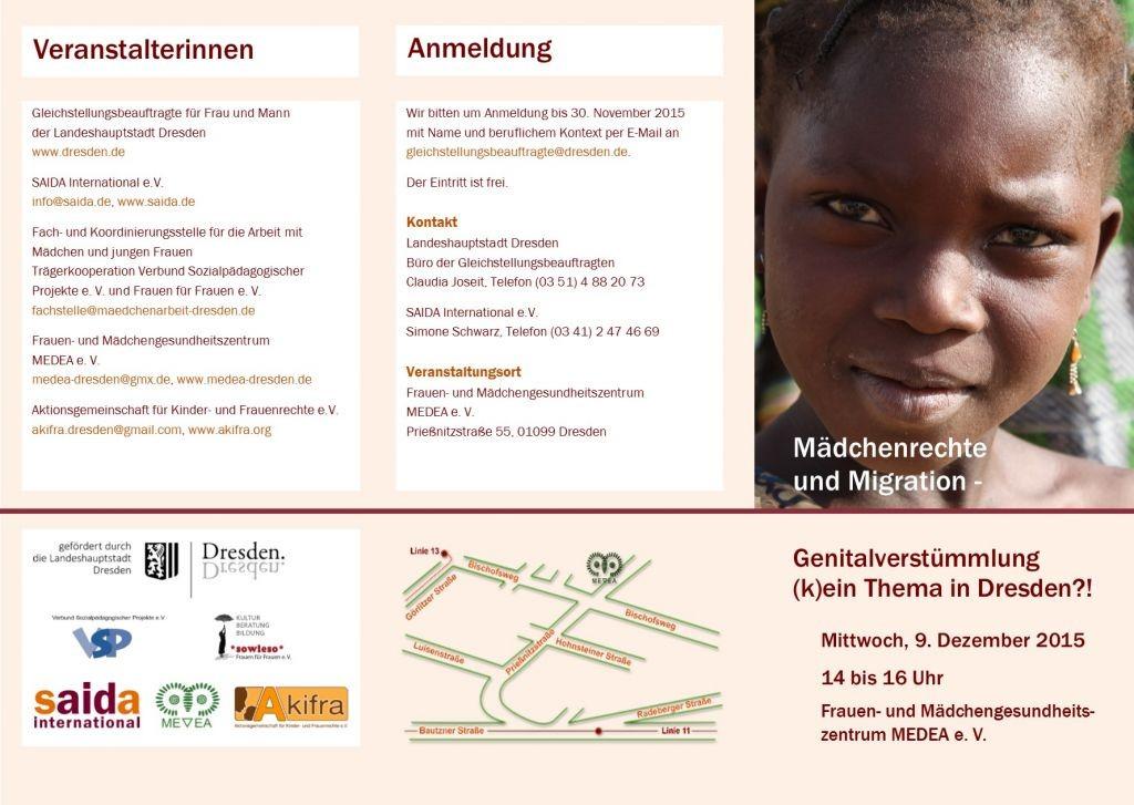 Mädchenrechte und Migration - Fachveranstaltung in Dresden
